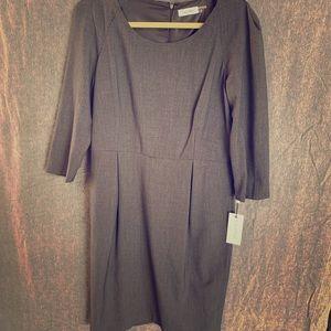 NWT Calvin Klein Grey Dress